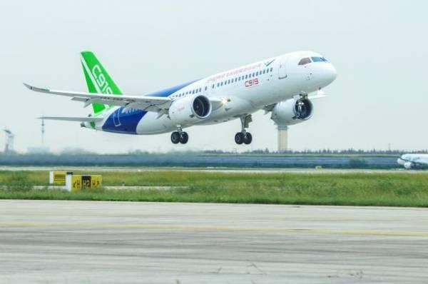 В Китае начался второй тестовый полет магистрального авиалайнера C919